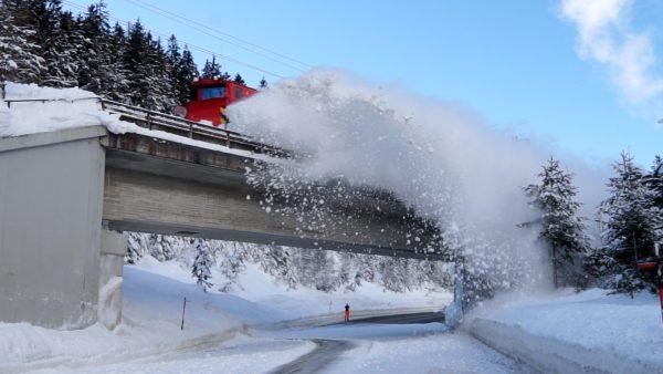 ÖBB-Schneeräumung läuft auf Hochtouren