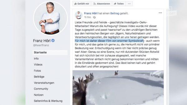 Das kommt dem Alpenverein spanisch vor: Kritik an Hörls Fake Video