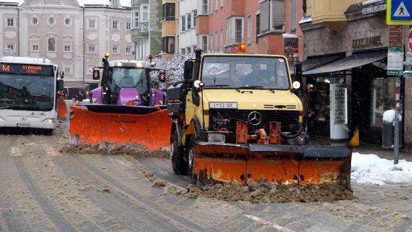 Schneeräumung Innsbruck sorgte für 7.400 Überstunden