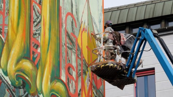 Maximilian-Graffiti auf 150 Quadratmetern