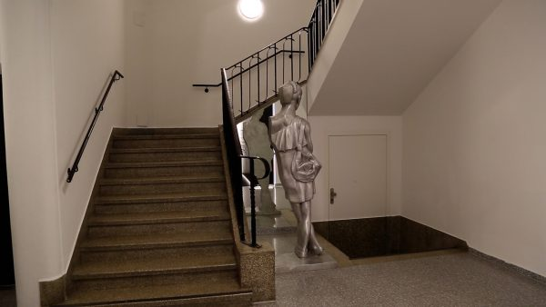 Kunst in einem Innsbrucker Stiegenhaus