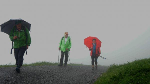 Wandern - auch bei schlechtem Wetter