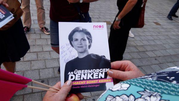 Beate Meinl-Reisinger (NEOS) auf Wahlkampftour