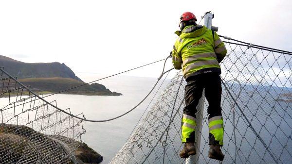 Lawinenverbauungen in Norwegen