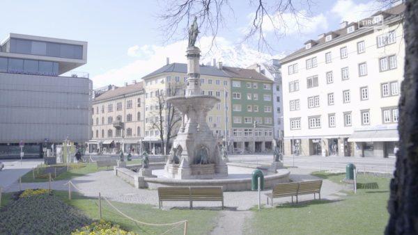 Leere Straßen in Innsbruck