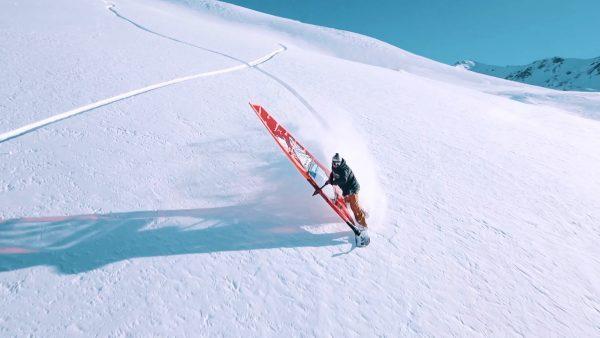 Surfen im Schnee