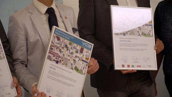 """Das Projekt """"Holz auf Schiene"""" ist Sieger des VCÖ-Mobilitätspreises Tirol 2021"""